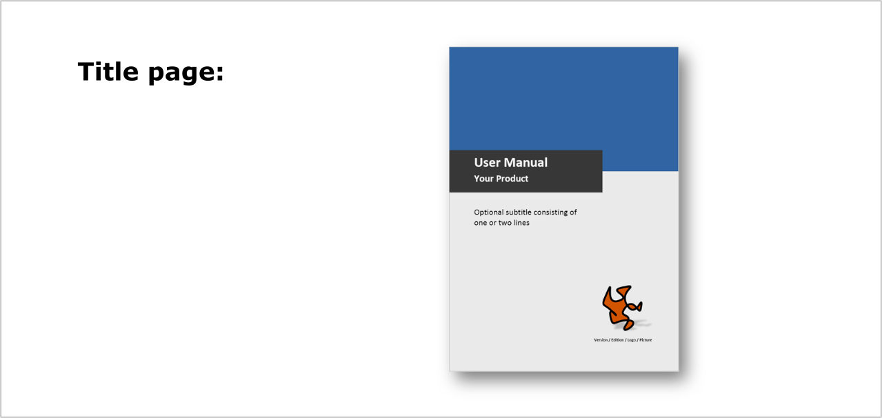 template for user manuals technical documentation